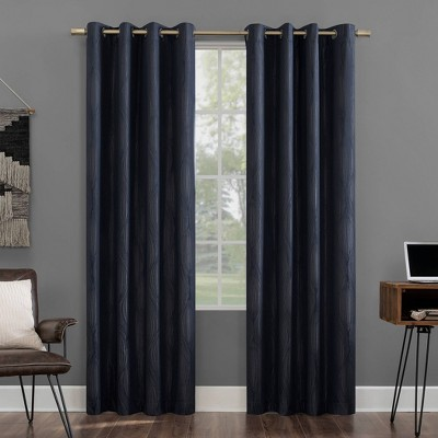 Beck Geometric Ogee Extreme Blackout Grommet Curtain Panel - Sun Zero