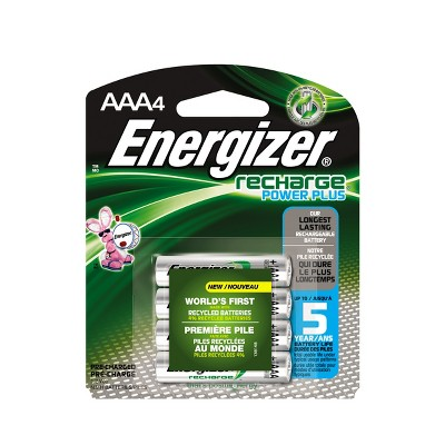 Energizer Recharge Power Plus AAA Batteries 4 ct (NH12BP-4)