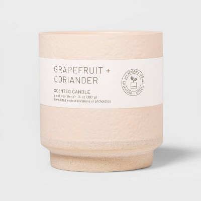 14oz Wellness Ceramic 2-Wick Grapefruit and Coriander Candle - Project 62™