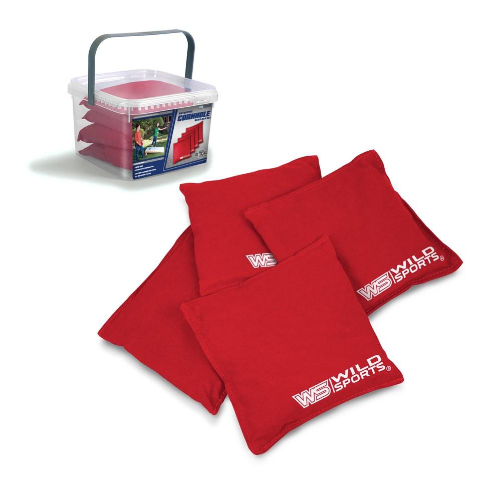 Image of Wild Sports Authentic Cornhole 16oz Bean Bag Set 4pk - Red