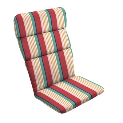 Keeley Stripe Outdoor Adirondack Chair Cushion Red - Arden Selections