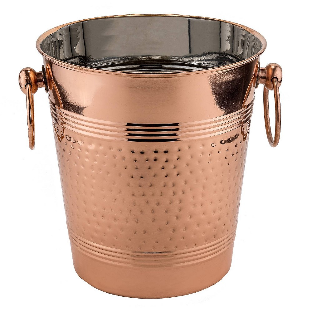 Image of Old Dutch 5.3qt Stainless Steel Fez Hammered Wine Cooler Copper