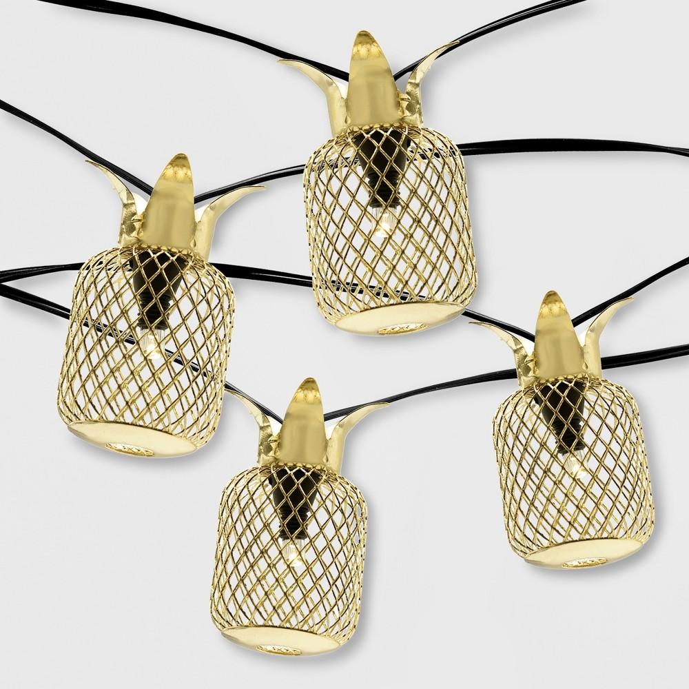 20ct Outdoor Pineapple Led Solar String Lights - Opalhouse
