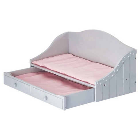 Olivias Little World 18 Inch Doll Furniture Trundle Bed Gray