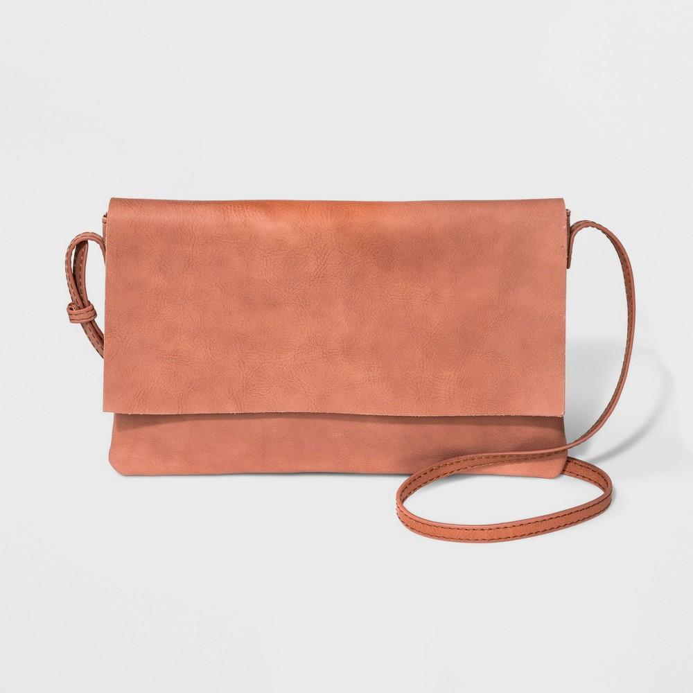 Genuine Leather Crossbody Bag - Universal Thread Blush, Women's