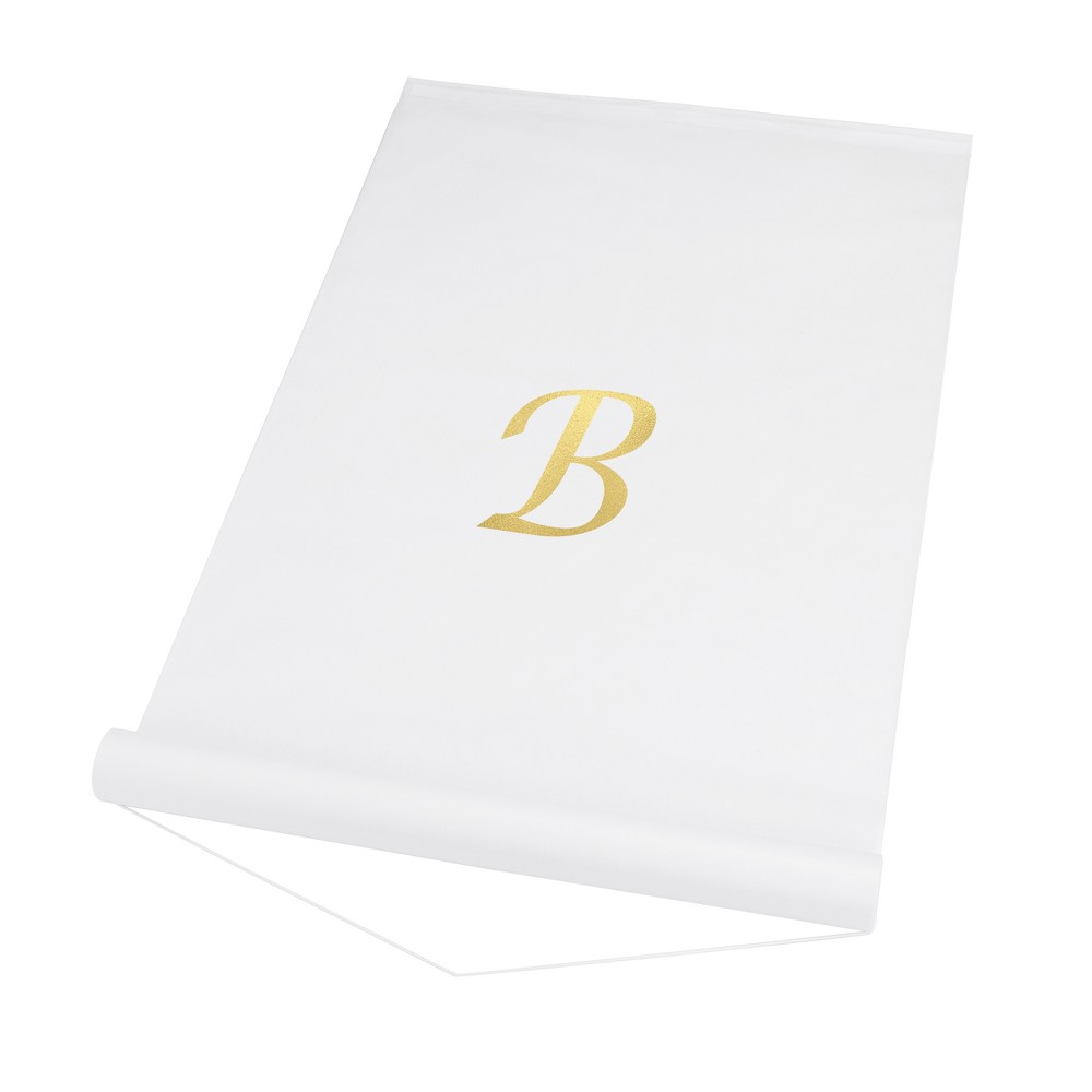 Cathy's Concepts White Personalized Wedding Aisle Runner - B