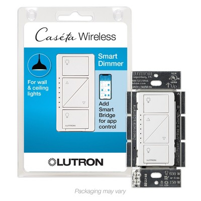 Lutron Caseta Smart Home Dimmer Switch, Works with Alexa, Apple HomeKit, and the Google Assistant