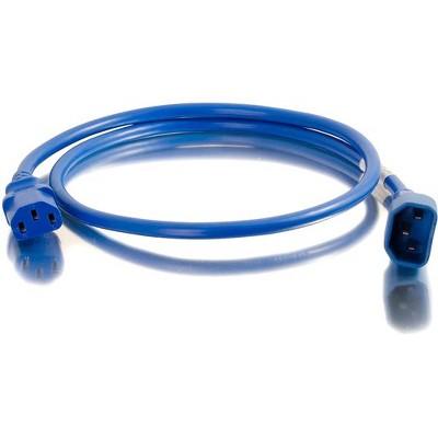 C2G 5ft 14AWG Power Cord (IEC320C14 to IEC320C13) - Blue - 250 V AC / 15 A - Blue