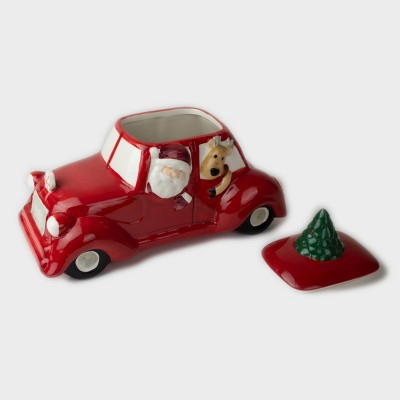 oz Ceramic Car Cookie Jar - Peppermint & Pine