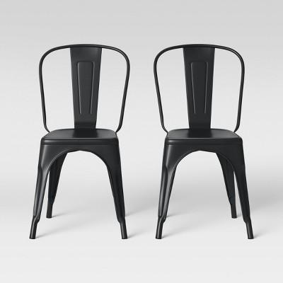 Set of 2 Carlisle High Back Dining Chair Matte Black - Threshold™