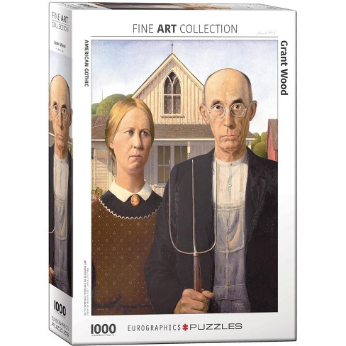 Eurographics Inc. American Gothic by Grant Wood 1000 Piece Jigsaw Puzzle - image 1 of 4