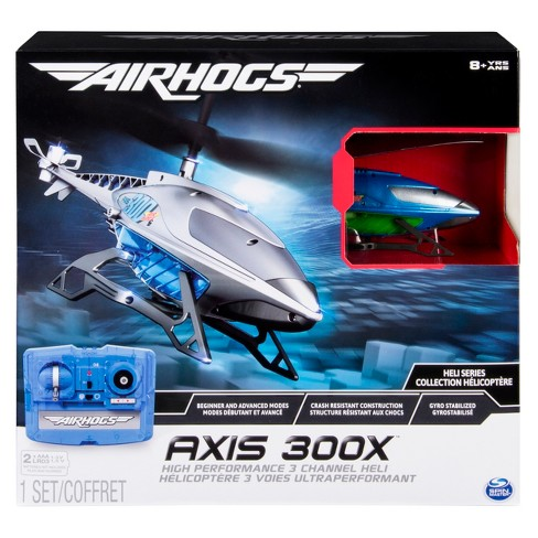 Air Hogs Axis 300x High Performance 3 Channel Remote Control RC Helicopter with Gyro – Colors Vary - image 1 of 6