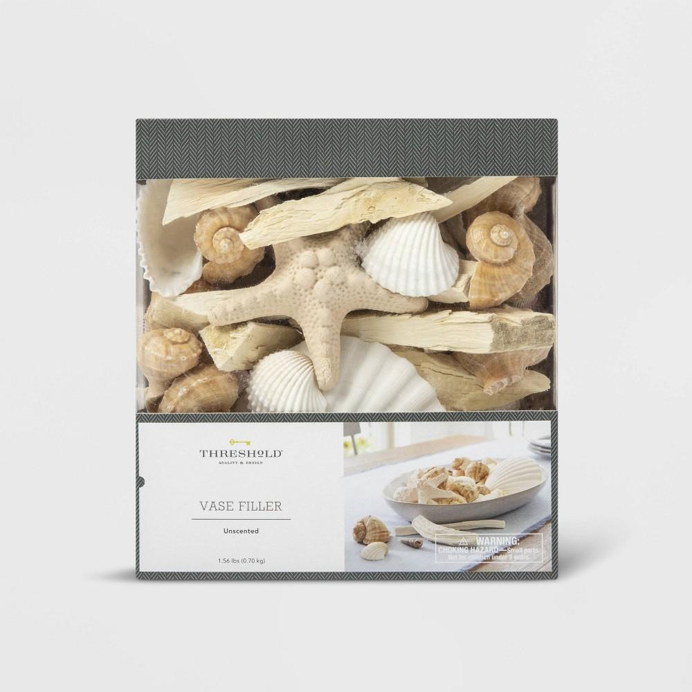 Image of 1.8lbs Unscented Shells Vase Filler Ivory/Brown - Threshold