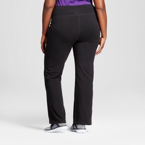 53f422c8bd60 Women s Plus-Size Cotton Spandex Semi-Fit Pants - C9 Champion® - Black 4X    Target