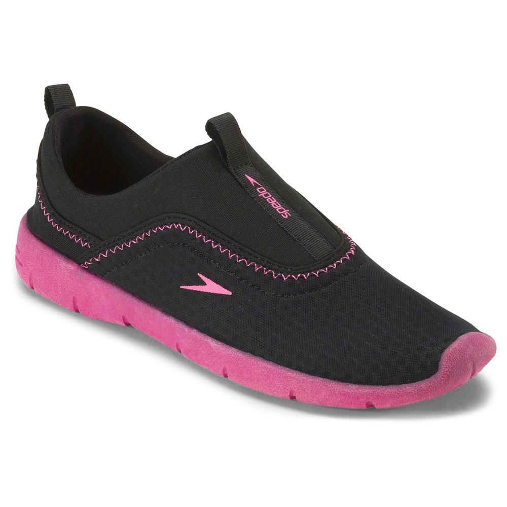 Speedo Junior Kids Aquaskimmer Water Shoes - Black/Purple (Small), Girl's