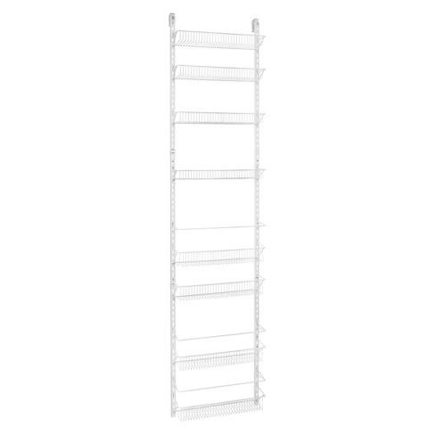 ClosetMaid 8 Tier Over-the-Door Adjustable Wire Rack White - image 1 of 4