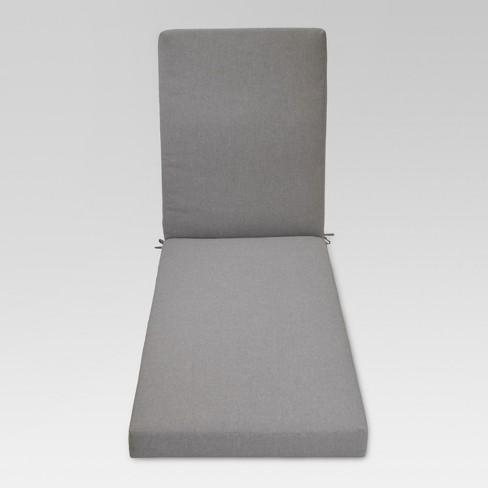 Fullerton Outdoor Chaise Lounge Cushion - Medium Gray - Threshold™ - image 1 of 1