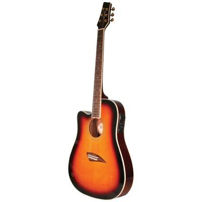 Kona K2LTSB Left-Hand Acoustic/Electric Guitar - Sunburst