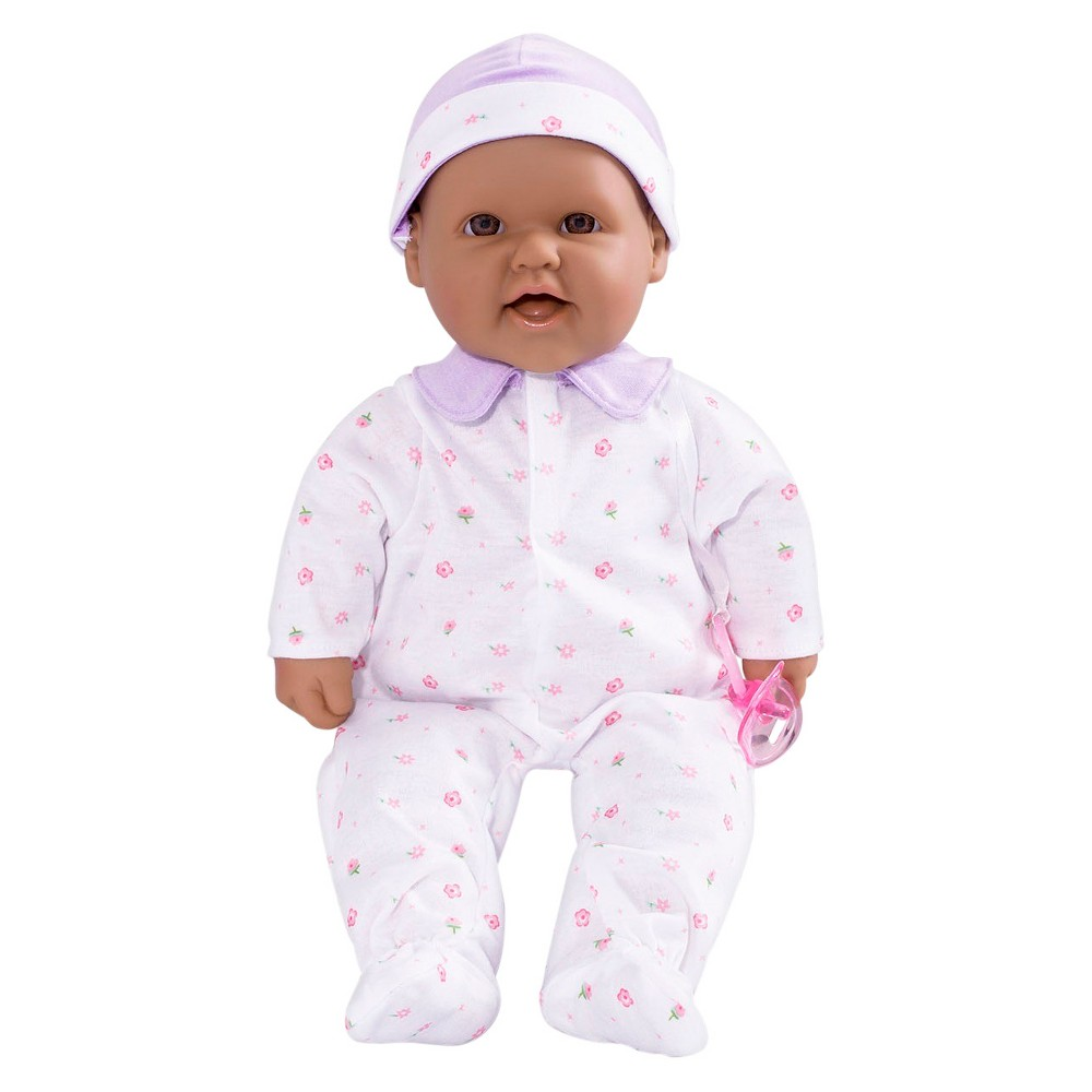 JC Toys La Baby 16 Washable Soft Body Hispanic Play Doll Designed by Berenguer - Purple Children aged 2 years and up will fall in love with this JC Toys doll. Gender: Female.