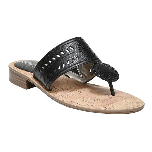 a70247f99f7 Women s Sam   Libby Tibby Whip Stitch Thong Sandals - Black 5.5   Target
