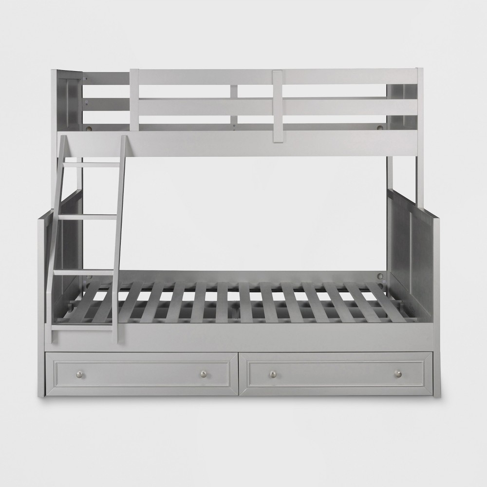 Venice Twin over Full Bunk Bed with Storage Dressers Silver/Gray - Home Styles