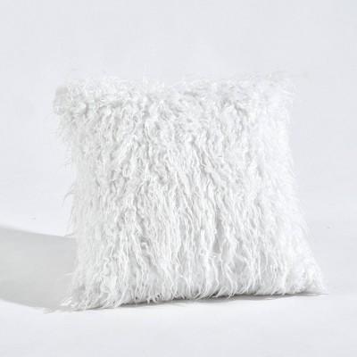 Luca Throw Pillow White - Lush Décor