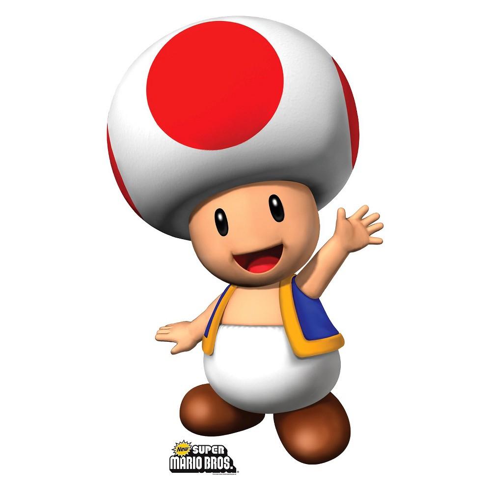 Super Mario Brothers Toad Cardboard Standup