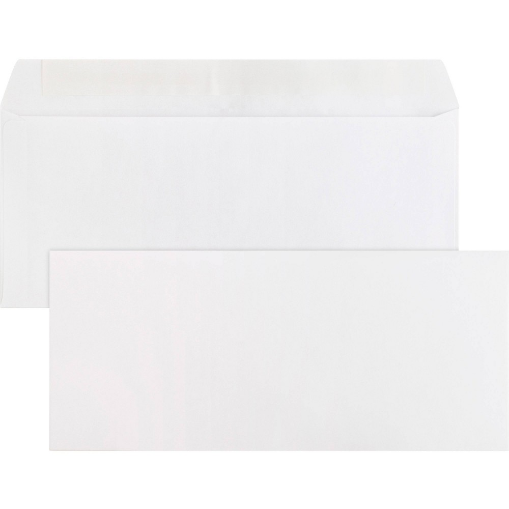 Image of Business Source 500ct Peel & Seal Plain Business #10 Envelopes - White