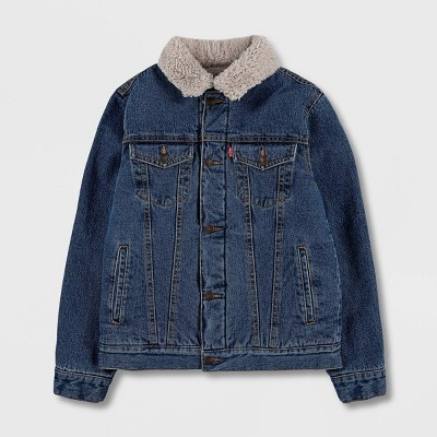 Levi's® Kids' Sherpa Jean Jacket - Stone Medium Wash