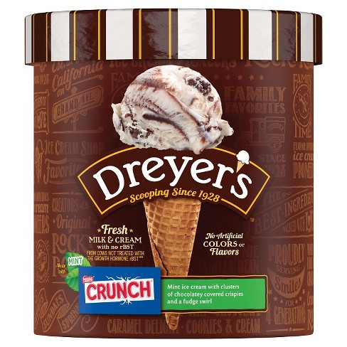 Dreyer's™ Mint Crunch Ice Cream - 1.5qt - image 1 of 2