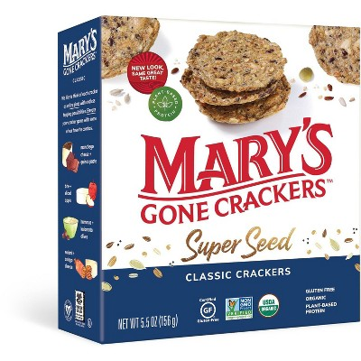 Mary's Gone Crackers Super Seed Organic Crackers - 5.5oz
