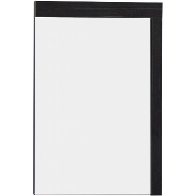 "23.5"" D2 Modern Plywood Melamine Mirror Dark Gray - American Imaginations"