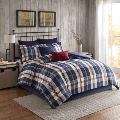 Ryland Oversized Plaid Print Comforter Set