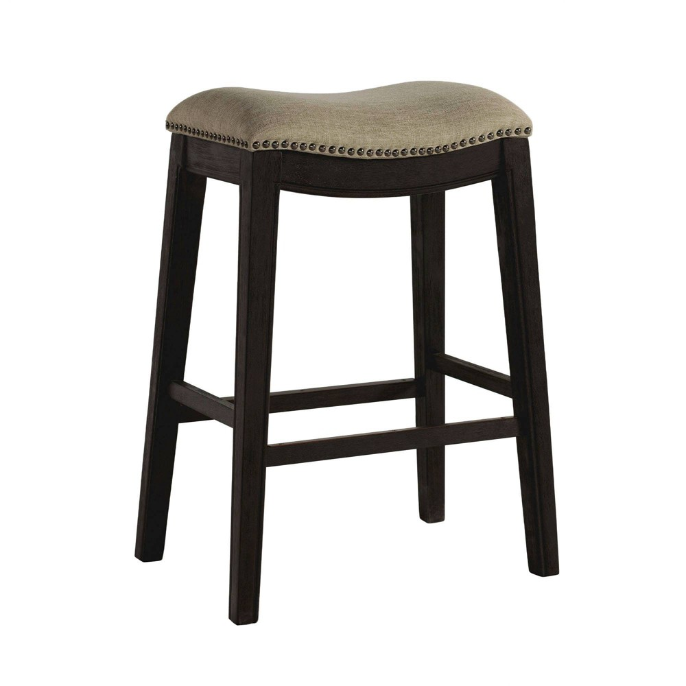 Image of 1pc Miles Backless Bar Stool Taupe - Picket House Furnishings, Brown