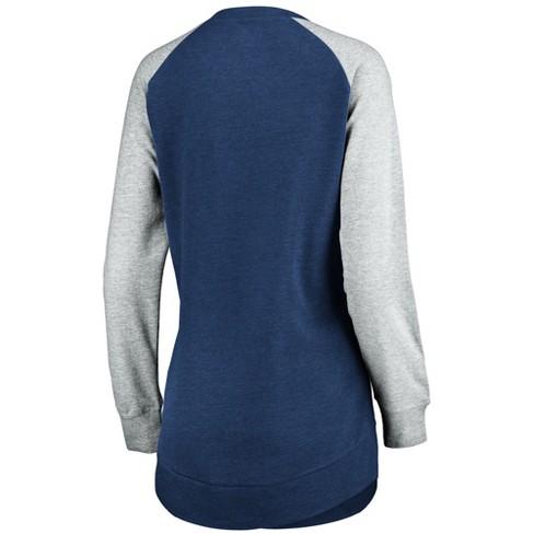 size 40 2a9af 9b47d NFL Denver Broncos Women's Brushed Tunic/ Gray Crew Neck Fleece Sweatshirt