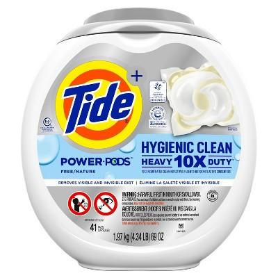 Tide Hygienic Clean Unscented Heavy Duty Power PODS Liquid Laundry Detergent - 41pk