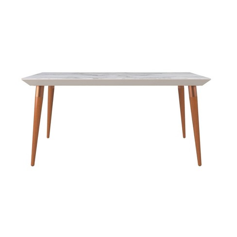 62 99 Utopia Modern Beveled Rectangular Dining Table With Glass Top Manhattan Comfort Target