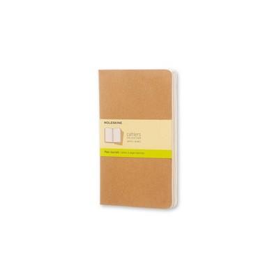 "Moleskine Cahier Journals, No Rule, 3pk, 240 sheets Total, 5.25"" x 8.25"" - Brown"