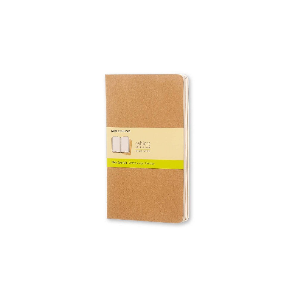 "Image of ""Moleskine Cahier Journals, No Rule, 3pk, 240 sheets, 5.25"""" x 8.25"""" - Black, Brown"""