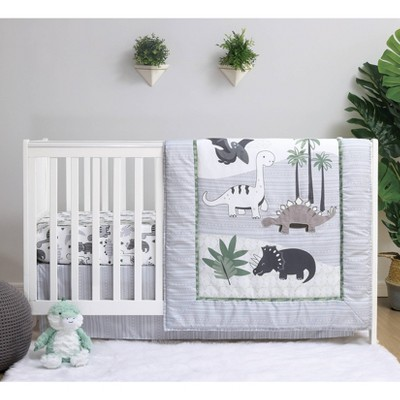 PS by The Peanutshell Dino Crib Bedding Set - 3pc