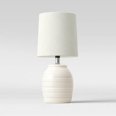 Embossed Striped Pattern Ceramic Mini Lamp - Threshold™