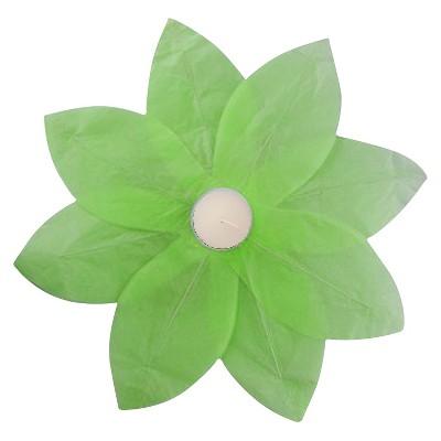 6ct Floating Lotus Paper Lantern Green