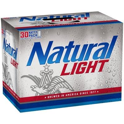 Natural Light Beer - 30pk/12 fl oz Cans