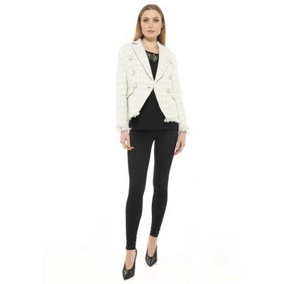 Alexia Admor Shine Tweed Jacket