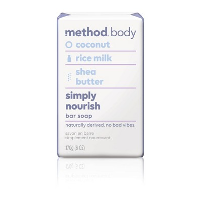 Method Bar Soap Simply Nourish - 6oz
