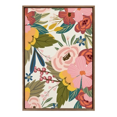 """23"""" x 33"""" Slyvie Softly Framed Canvas Wall Art by Mia Charro Gold - Kate and Laurel"""