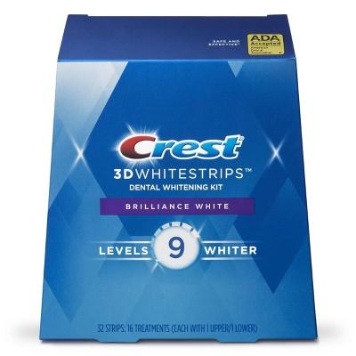Crest 3D Whitestrips Brilliance White Teeth Whitening Kit - 16ct
