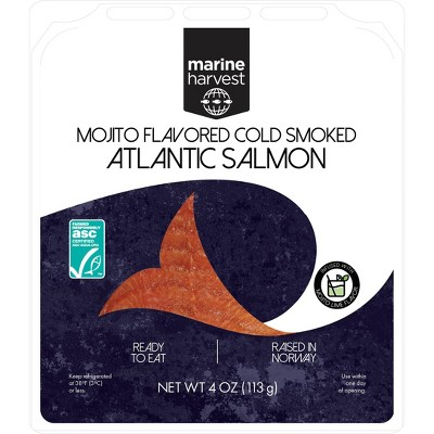 Marine Harvest Norwegian Mojito Flavored Cold Smoked Salmon - 4oz