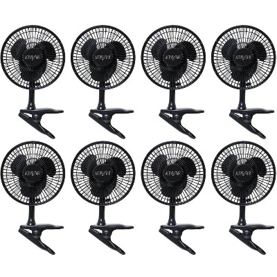 "(8) Active Air 6"" 5W Magnetic Drive Clip On Grow Fans w/ Brushless Motor 