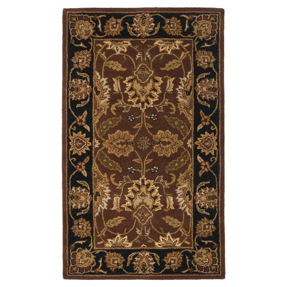 Rust/Black (Red/Black) Floral Tufted Area Rug 5'X8' - Safavieh